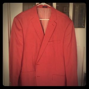 Beautiful salmon / coral sports coat - 48 Regular